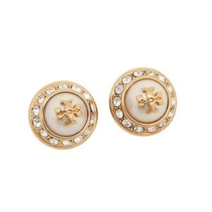 ✨NEW TORY BURCH✨NATALIE CRYSTALS PEARL EARRINGS